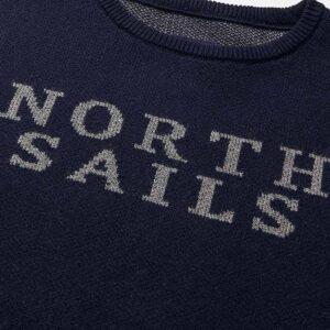 North Sails Abbigliamento Maglia Blu Con Testo Dettagli