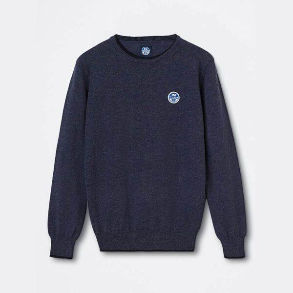 north sails abbigliamento maglia blu maniche lunghe
