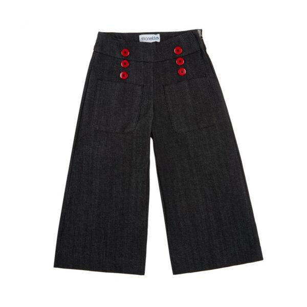 Simonetta abbigliamento outlet pantaloni neri per bambine
