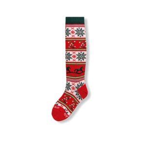Gallo Calzino Fantasia Natale Rossa