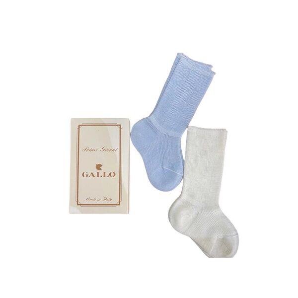 Gallo kit calze azzurre e bianche per neonato