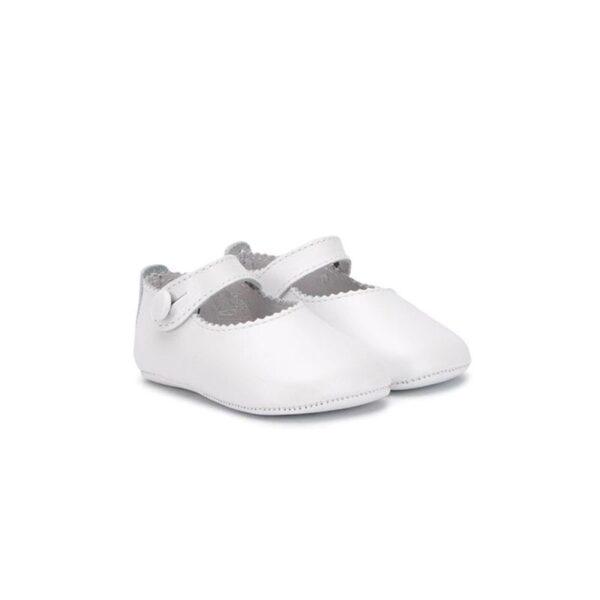 Gallucci scarpe ballerina bianca culla