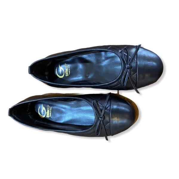 Gallucci ballerine lucide nere con laccetti