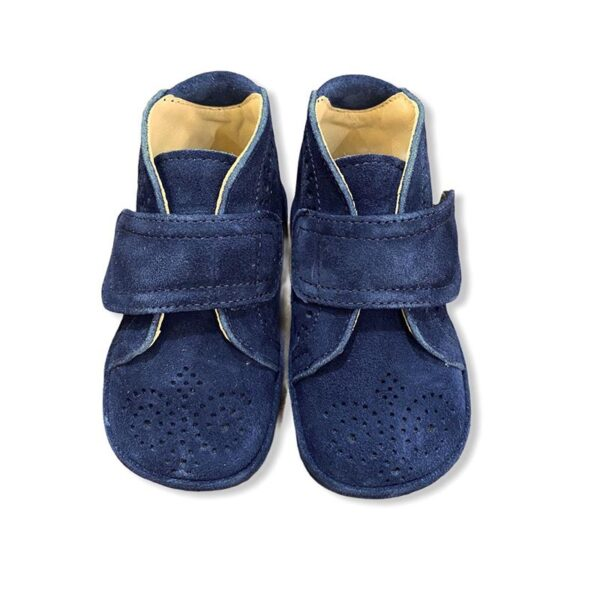 Gallucci scarpe blu camoscio con faccetta a strappo