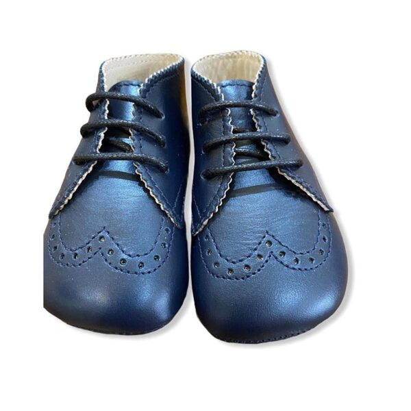 Gallucci scarpe classiche blu per bambino lucide vista frontale