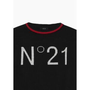 N°21 Maglia Blu Con Colletto Rosso E Scritta N°21