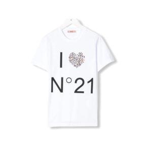N°21 KIDS T-SHIRT CON STAMPA