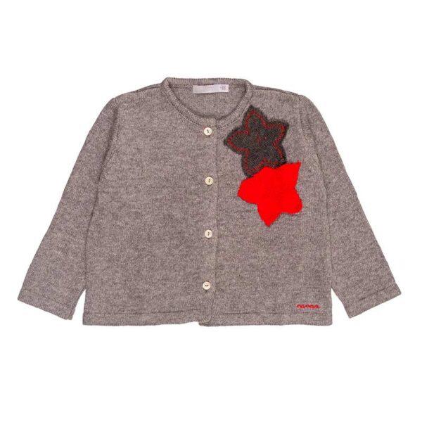 Nanan maglioncino grigio con stelle rosse
