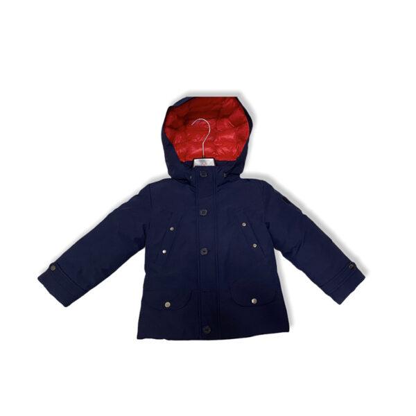 Peuterey giubbotto blu con cappuccio interno rosso