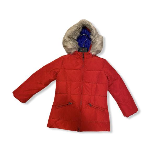 Peuterey giubbotto rosso con cappuccio con pellicciotto