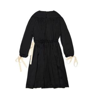 Unlabel Abbigliamento Bambini Abito Nero Con Fiocco Vista Retro