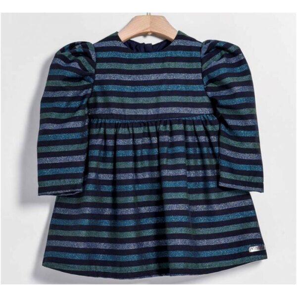 Yell Oh abbigliamento bambini abito multi riga verde e blu