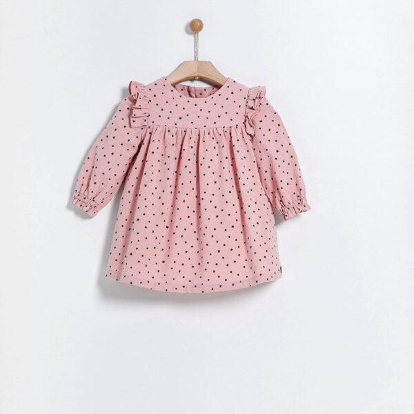 Yell Oh abbigliamento bambini maglia rosa pois neri