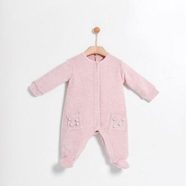 Yell Oh abbigliamento bambini tutina rosa vista retro