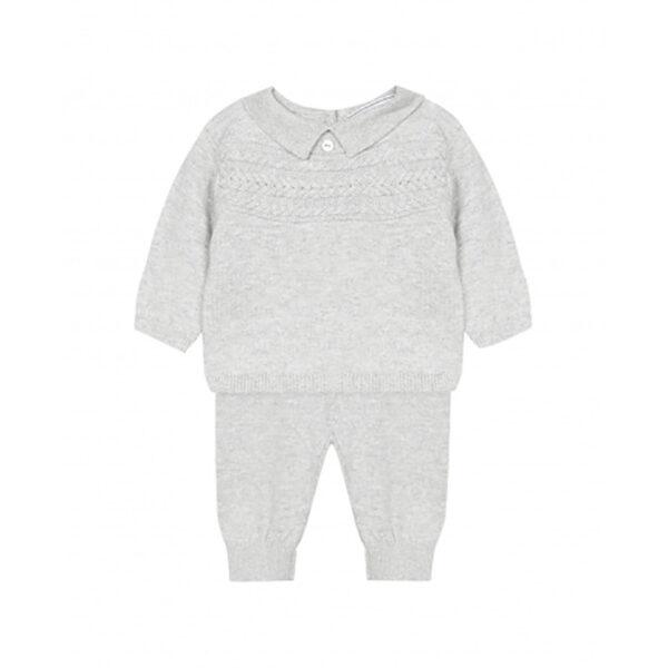 tartine et chocolat completino neonato grigio per maschietto