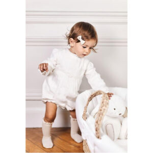 Tartine Et Chocolat Outfit Per Neonata Bianco