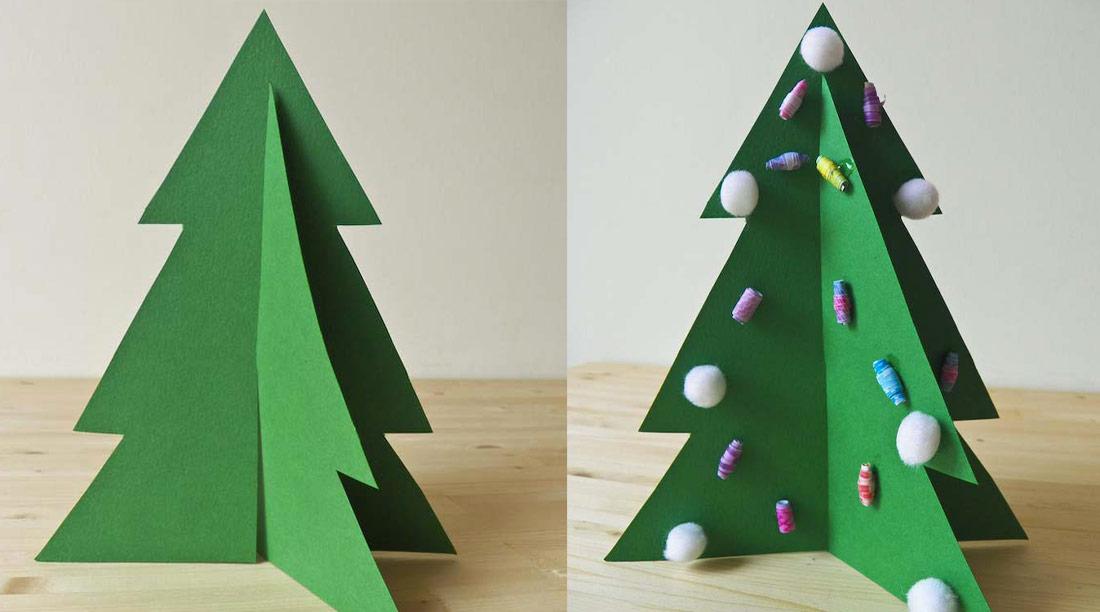 Alberello di Natale 3D per bambini