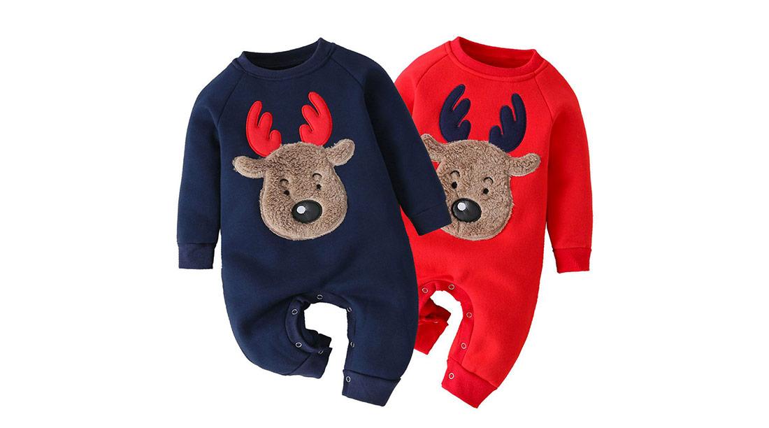 Abbigliamento natalizio tutine con alce per neonati
