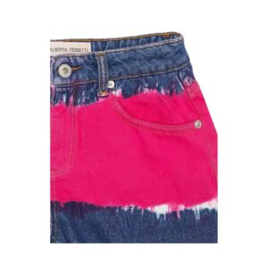 Alberta Ferretti Junior Denim Shorts Bambina Tte Dye Dettagli
