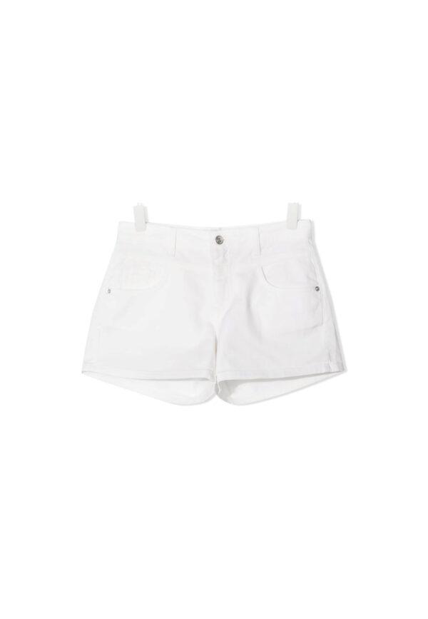 Alberta Ferretti Junior shorts bianchi con passanti per cintura