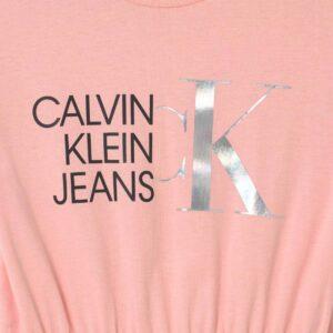 Calvin Klein Kids Abito Rosa Per Bambina Con Logo