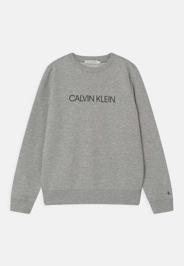 Calvin Klein felpa grigia con logo grigio scuro