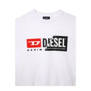 Diesel Felpa Bianca Con Logo