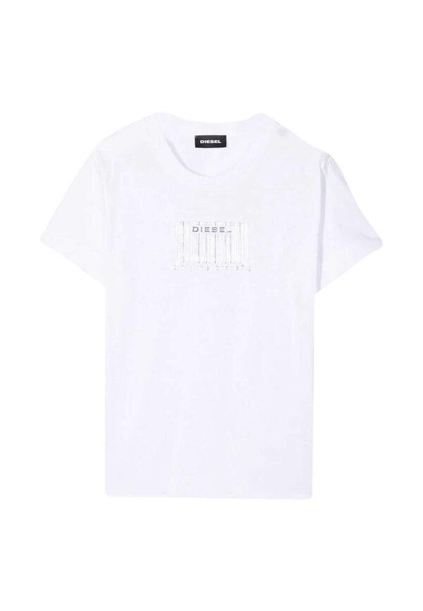 Diesel t-shirt bianca barcode
