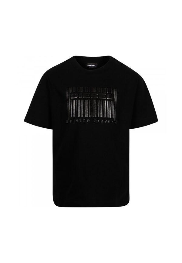 Diesel t-shirt nero bar code