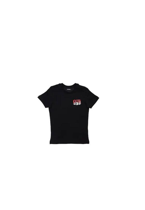 Diesel t-shirt nera fronte
