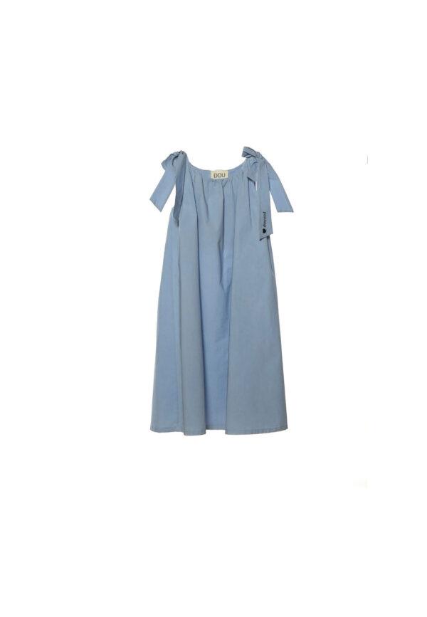 Douuod Kids abito per bambina celeste