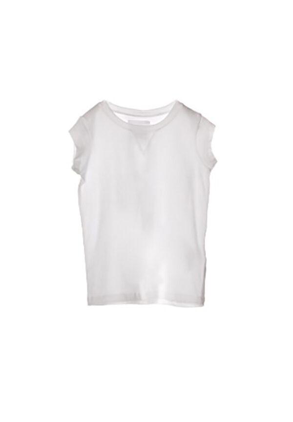 Douuod Kids t-shirt bianca manica corta