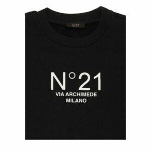 N°21 Felpa Nera Girocollo