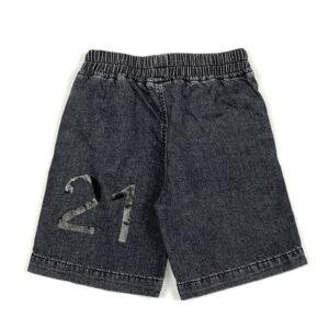 N°21 Kids Bermuda In Jeans Con Logo Frontale