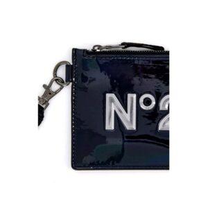 N°21 Pochette Nera Con Logo N°21 Frontale