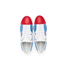 Simonetta Sneakers Con Design A Pannelli Rossi E Blu