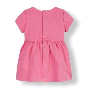 Tommy Hilfiger Junior Abito Bambina In Cotone Rosa Manica Corta