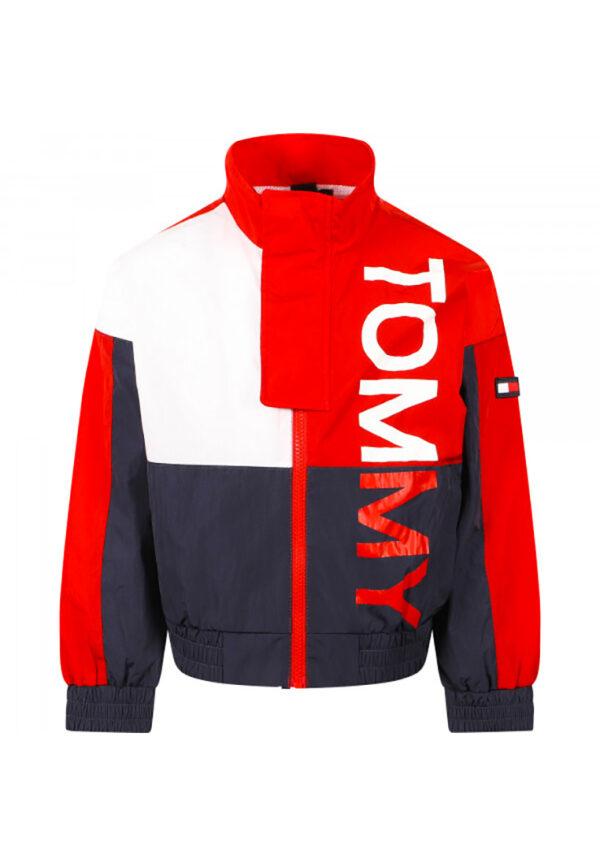 Tommy Hilfiger Junior giacca rossa e blu con logo