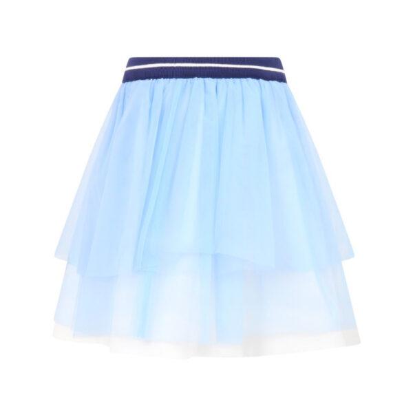 Simonetta gonna celeste con bordo blu per bambina