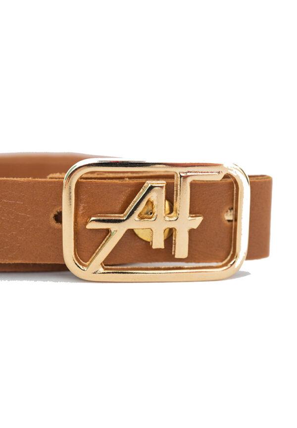 Alberta Ferretti Junior cintura con fibbia dorata