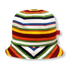 GALLO CLOCHE CON TESA FANTASIA RIGHE MULTICOLOR
