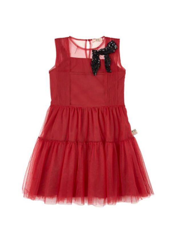 N° 21 kids abito per bambina rosso in tulle