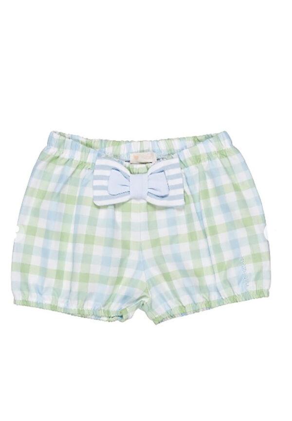 Nanan shorts fantasia scozzese azzurri e verde tiffany