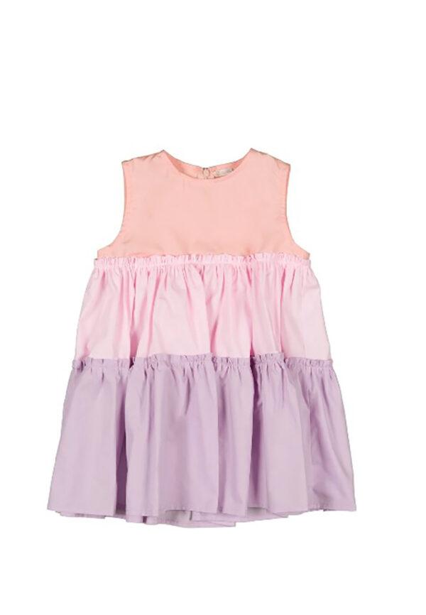 Nanan abito bambina a tre colori rosa, viola e lilla