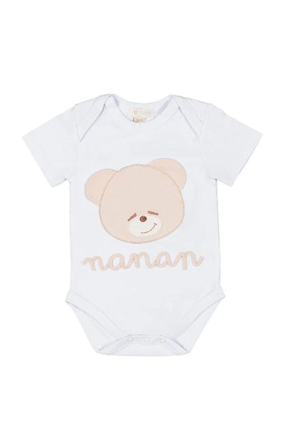Nanan body bianco manica corta