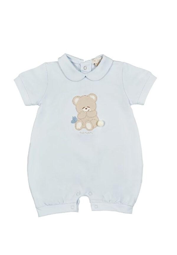 Nanan pagliaccetto celeste con orsetto per neonato
