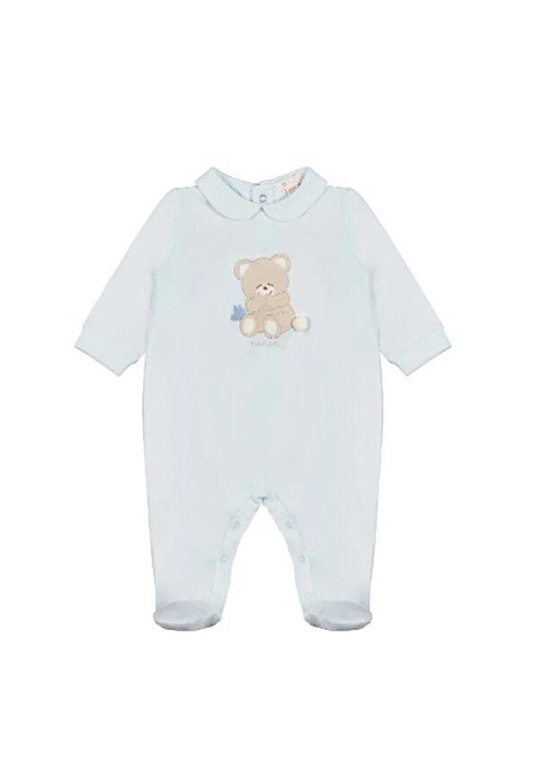 Nanan tutina celeste con orsetto per neonato