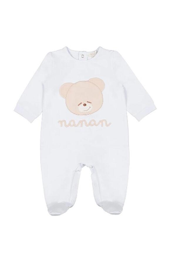 Nanan tutina azzurra per neonato con orsetto Tato