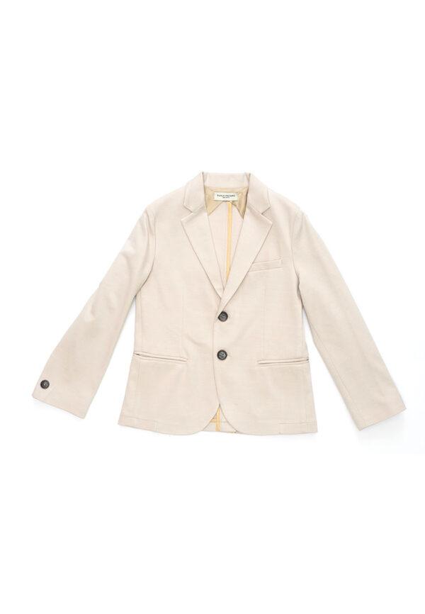 Paolo Pecora giacca beige con collo in raso