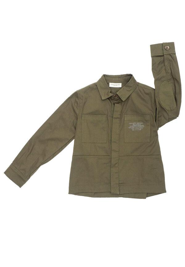 Paolo Pecora Kids maglia verde con colletto